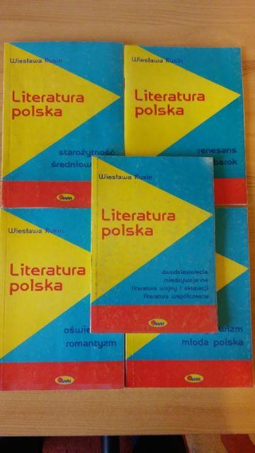 Wiesława Rusin Literatura polska x5 komplet opracowań wszystkie epoki