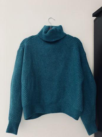 Sweter morski wełna h&m xs