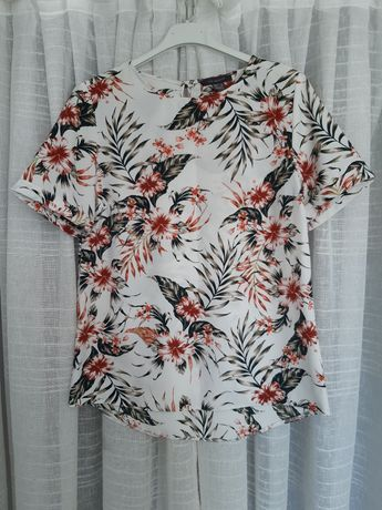 Tshirt floral estampada, Tamanho 36, Primark