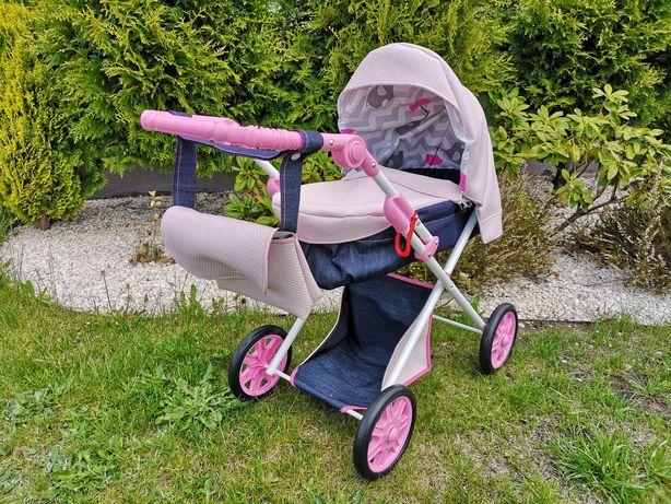 Wózek dla Lalek Dziewczynek Ekoskóra Regulowana Rączka