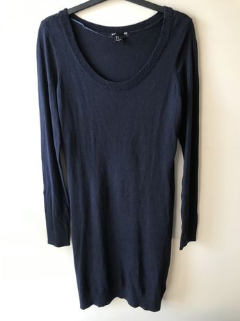 Granatowa sukienka sweterkowa rozmiar M H&M