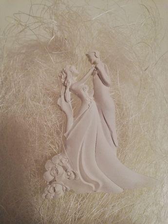 Figurka ślubna z gipsu