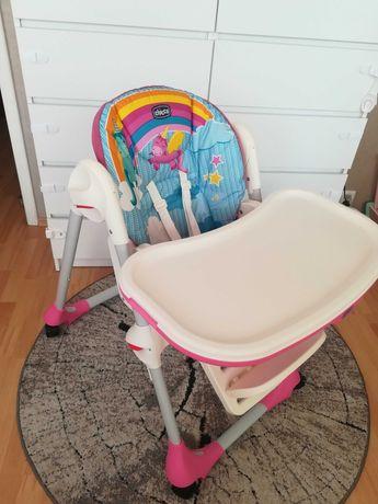 Krzesełko do karmienia chicco polly easy unicorn pozycja leżenia