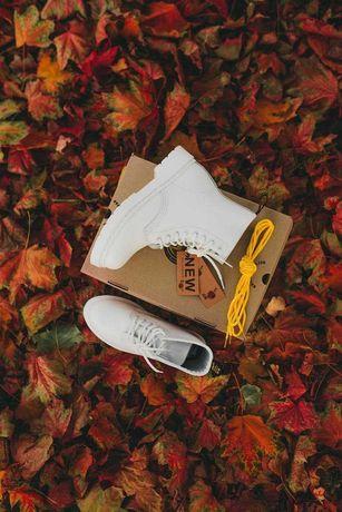 Ботинки Доктор Мартинс Dr.Martens Белые Осень Зима