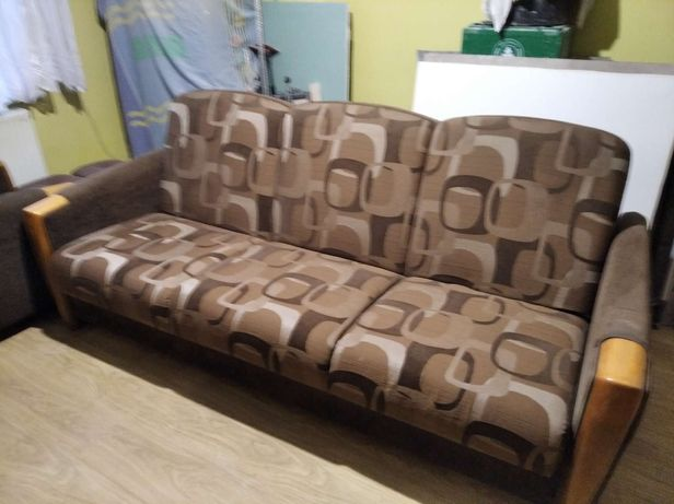 Zestaw wypoczynkowy kanapa fotele