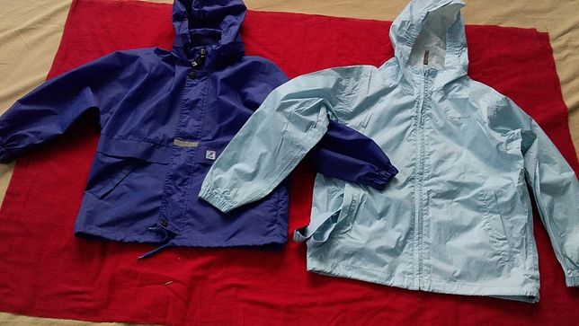 Куртка- ветровка, куртка-дождевик детская- K-Way-114/6;Quechua-145/10