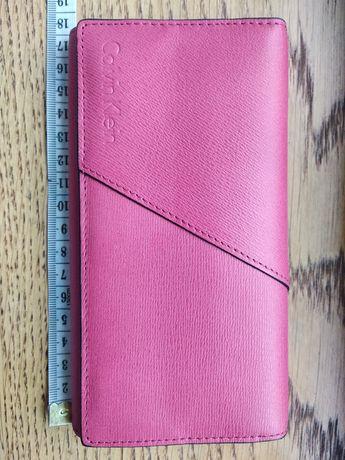 Nowy Calvin Klein skórzane etui portfel