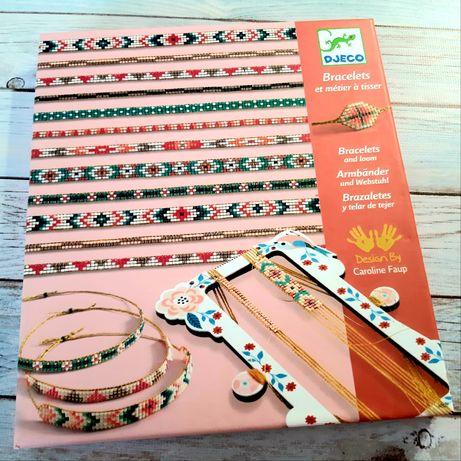 творческий набор набор для плетения яркие браслеты djeco