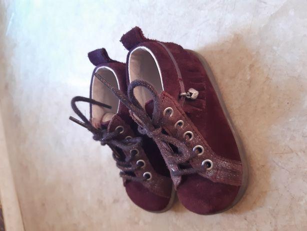 Ботинки, туфельки, для девочки, кожанные