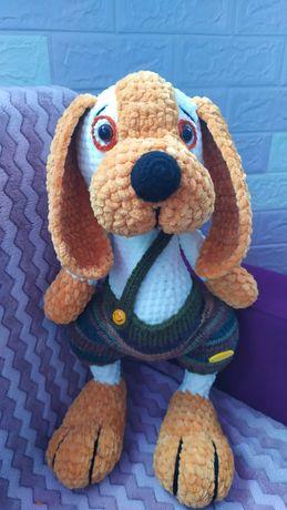Мягкая игрушка амигуруми, собака
