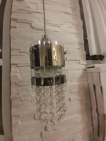 Lampa wisząca glamour kryształki