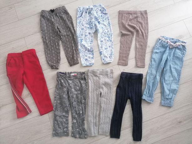 Spodnie leginsy jeansy spodenki r. 98