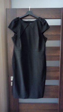 Czarna dzianinowa sukienka, rozmiar 46