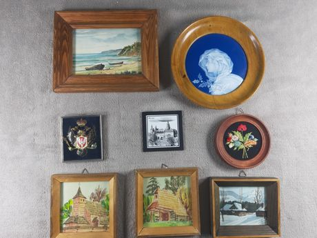 Obrazy różnych autorów różne style talerze ozdobne