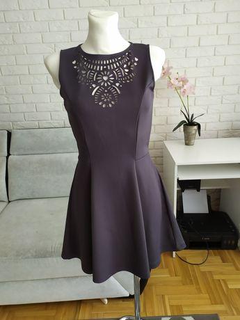 Sukienka szara h&m s