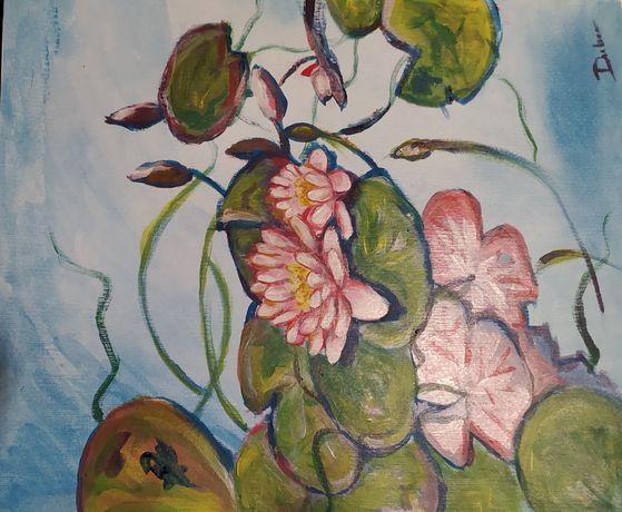 Lilie na wodzie-kwiaty