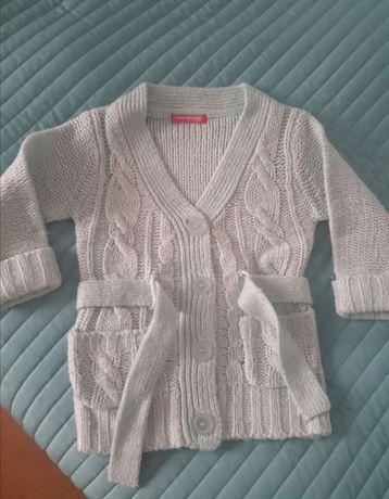 Sweterek miętowy Young Dimension 2-3lata 98 kardigan