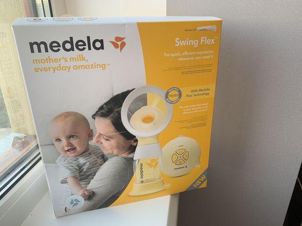 Молокоотсос Medela Swing Flex + соска Medela Calma + подарок