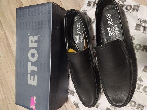 Мокасины, туфли, классика Etor, кожа, 45 размер