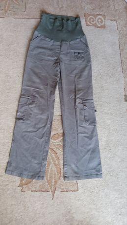 Długie spodnie ciążowe bojówki Happy mam r.36/38 M oliwkowe wygodne