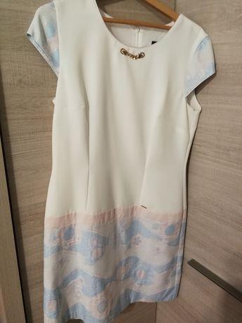 Sukienka kremowa L