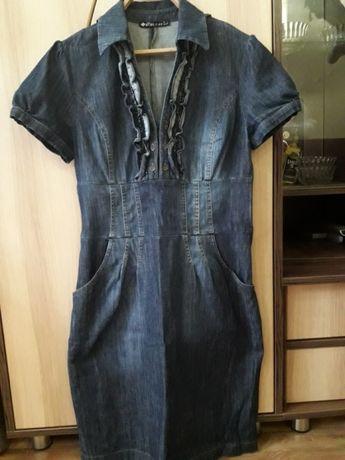 Джинсовое платье сарафан Джинс 44-46 размер