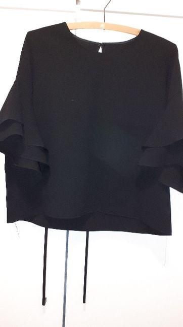 Zara elegancka bluzka czarna
