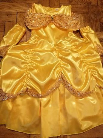 Bal karnawałowy sukienka 104 110 księżniczka bella