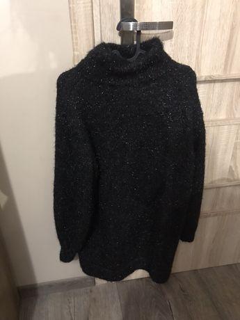 H&M Gruby, zimowy sweter/ sukienka-wysylka gratis