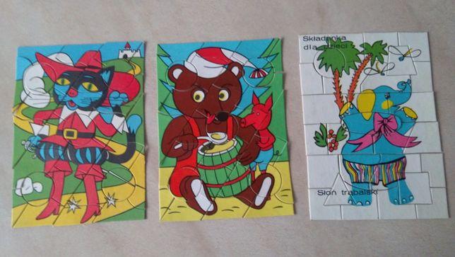 Składanka układanka dla dzieci puzzle puzle 28 elementów z czasów PRL