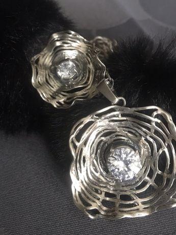 Stary pierscionek i zawieszka srebro z probami