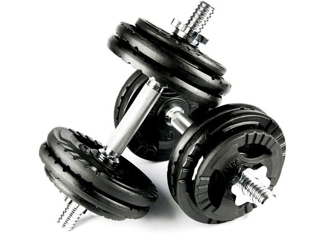 Гантели разборные (наборные) KAWMET 2шт по 15кг (30 кг) металические
