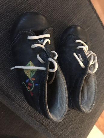 Buty buciki skórzane
