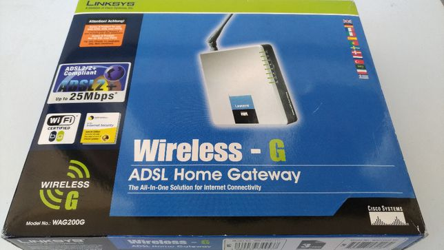 Router/Modem ADSL Linksys WAG200G