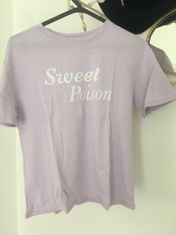 T-shirt lavanda stradivarius