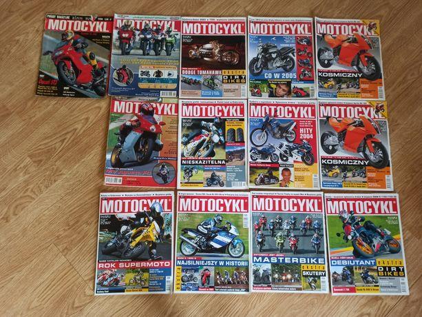 Motocykl 2003 czasopismo 1997 gazeta 1999 13 sztuk 2004