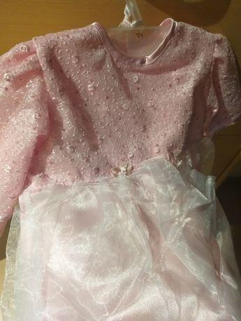 74 sukienka z taftą kapelutek gratis