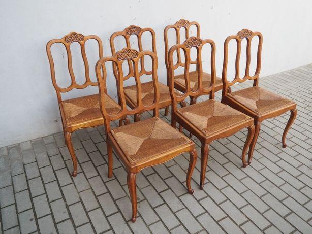 Tani komplet 6 krzeseł ludwikowskich 655