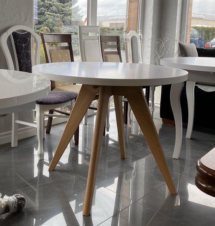 stół okrągły biały różne kolory nowoczesny 90-110cm wysoki połysk