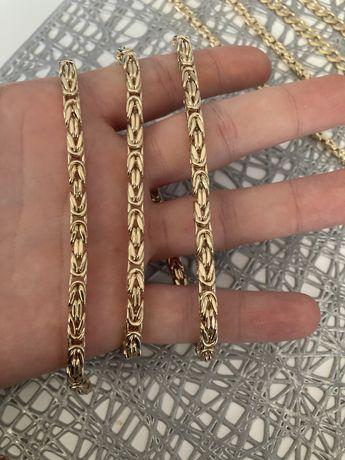 Złoty Łańcuszek Splot Królewski Łańcuch 585 14k IT Złoto Złota