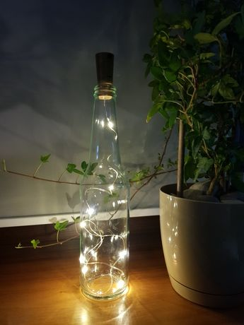 Butelka oświetlona led (dekoracja)