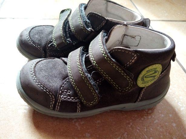 Skórzane buty chłopięce firmy Richter - jesienne