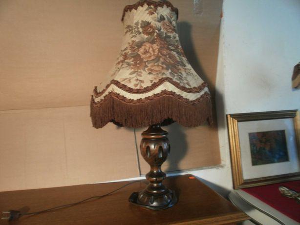 Stylowa Lampa Nocna Dębowa Unikat z Niemiec