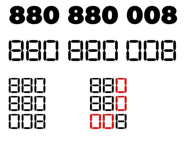Platynowy numer, składający się z dwóch cyfr , łatwy do zapamiętania