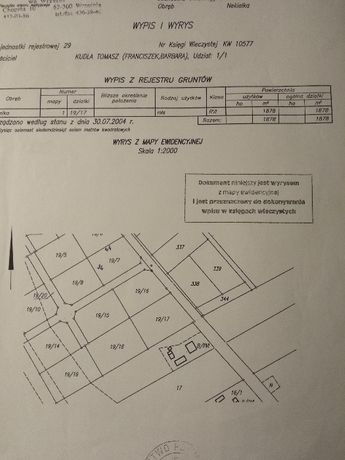 działka budowlana Nekielka 1878m2