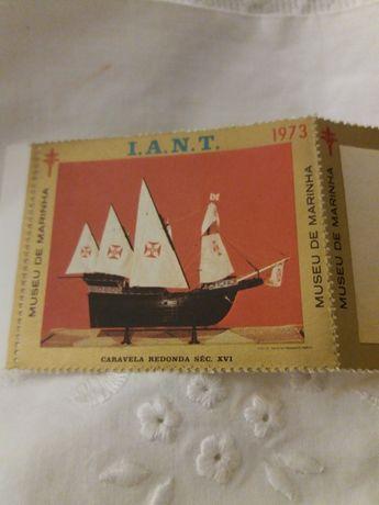 Selos do I.A.N.T. 3 coleções diferentes de compostas por 5 selos junt