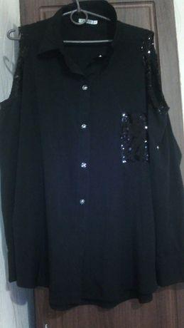 продам нарядную рубашку черного цвета