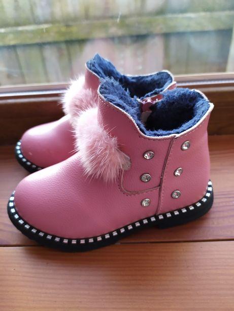 Ботинки для девочки 23-24 размер(сапожки для девочки)
