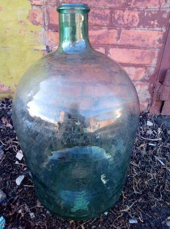 Стеклянный бутыль на 20 л времен СССР