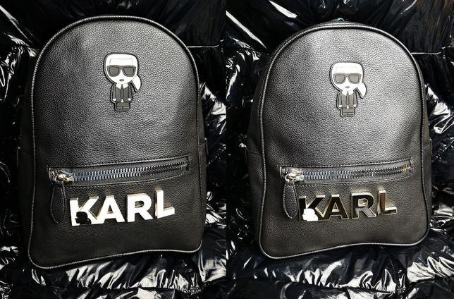 Plecak Karl Lagerfeld KL nowość logowany skórzany nowość